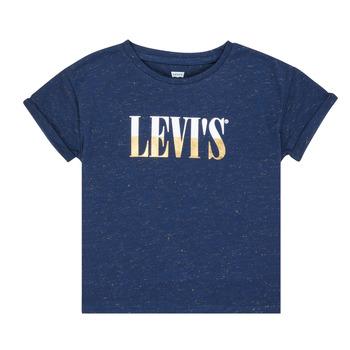 Îmbracaminte Fete Tricouri mânecă scurtă Levi's DROP SHOULDER TEE Albastru
