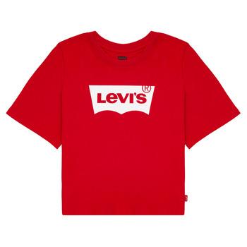 Îmbracaminte Fete Tricouri mânecă scurtă Levi's LIGHT BRIGHT CROPPED TEE Roșu