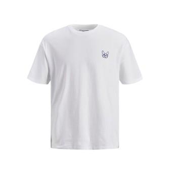 Îmbracaminte Băieți Tricouri mânecă scurtă Jack & Jones JJAARHUS TEE Alb