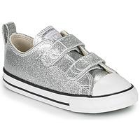 Pantofi Fete Pantofi sport Casual Converse CHUCK TAYLOR ALL STAR 2V - COATED GLITTER Argintiu