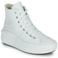 Pantofi Femei Pantofi sport stil gheata Converse Chuck Taylor All Star Move Canvas Color Hi Alb