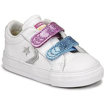 Pantofi Fete Pantofi sport Casual Converse STAR PLAYER 2V GLITTER TEXTILE OX Alb / Albastru / Roz