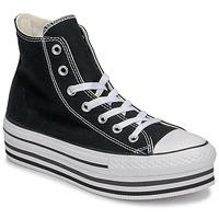 Pantofi Femei Pantofi sport stil gheata Converse CHUCK TAYLOR ALL STAR PLATFORM EVA LAYER CANVAS HI Negru