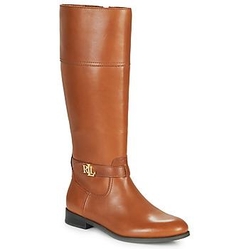 Pantofi Femei Cizme casual Lauren Ralph Lauren BAYLEE Coniac