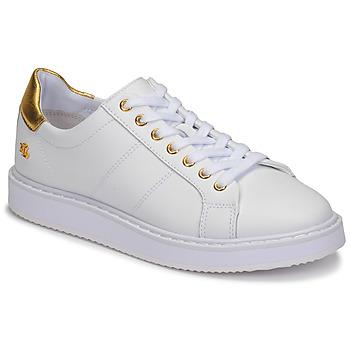 Pantofi Femei Pantofi sport Casual Lauren Ralph Lauren ANGELINE II Alb / Auriu