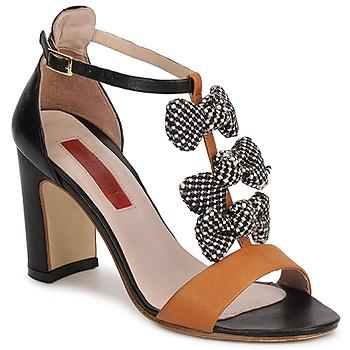 Pantofi Femei Sandale și Sandale cu talpă  joasă MySuelly CAPO Negru / Maro