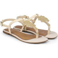 Pantofi Fete Sandale  Bibi Shoes Sandale Fete Bibi Little Me Glitter Palm Crem