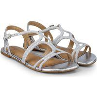 Pantofi Fete Sandale  Bibi Shoes Sandale Fete Little Me Glitter Silver Argintiu
