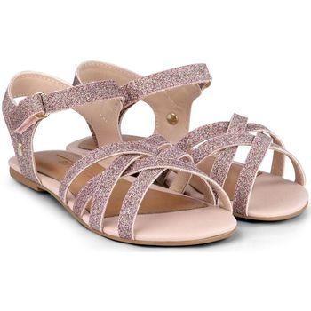 Pantofi Fete Sandale  Bibi Shoes Sandale Fete Bibi Mini Me Glitter Sweet Roz