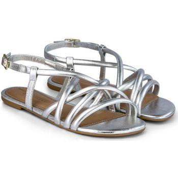 Pantofi Fete Sandale  Bibi Shoes Sandale Fete Bibi Little Me Silver Argintiu