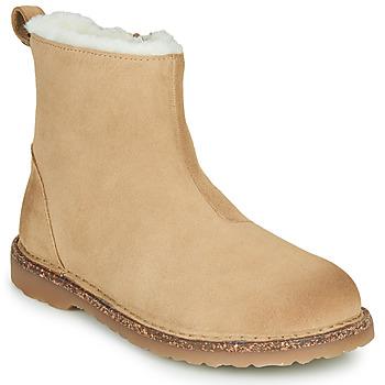 Pantofi Femei Ghete Birkenstock MELROSE SHEARLING Bej