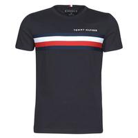 Îmbracaminte Bărbați Tricouri mânecă scurtă Tommy Hilfiger GLOBAL STRIPE TEE Albastru
