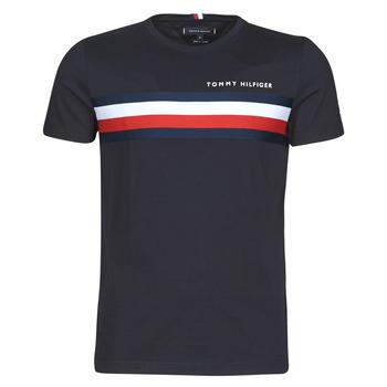 Îmbracaminte Bărbați Tricouri mânecă scurtă Tommy Hilfiger GLOBAL STRIPE TEE Bleumarin