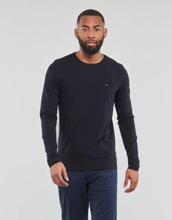 Îmbracaminte Bărbați Tricouri cu mânecă lungă  Tommy Hilfiger STRETCH SLIM FIT LONG SLEEVE TEE Negru