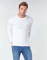 Îmbracaminte Bărbați Tricouri cu mânecă lungă  Tommy Hilfiger STRETCH SLIM FIT LONG SLEEVE TEE Alb