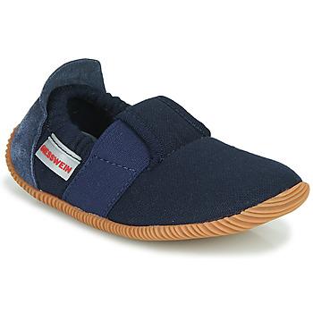 Pantofi Copii Papuci de casă Giesswein SOLL Bleumarin
