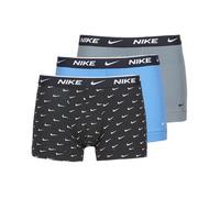 Lenjerie intimă Bărbați Boxeri Nike EVERYDAY COTTON STRETCH Negru / Gri / Albastru