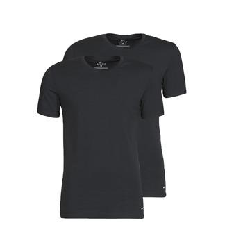 Îmbracaminte Bărbați Tricouri mânecă scurtă Nike EVERYDAY COTTON STRETCH Negru