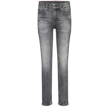 Îmbracaminte Băieți Jeans skinny Tommy Hilfiger SIMON SUPER SKINNY Gri