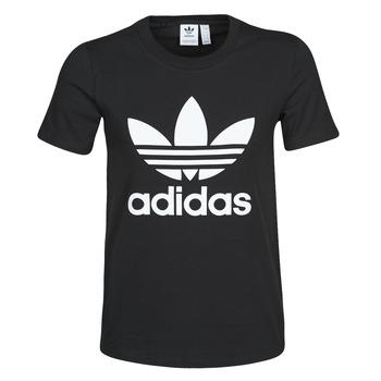 Îmbracaminte Femei Tricouri mânecă scurtă adidas Originals TREFOIL TEE Negru