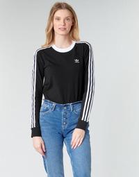 Îmbracaminte Femei Tricouri cu mânecă lungă  adidas Originals 3 STR LS Negru