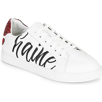 Pantofi Femei Pantofi sport Casual Bons baisers de Paname SIMONE AMOUR/HAINE Alb