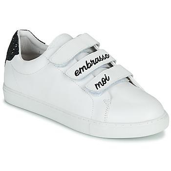 Pantofi Femei Pantofi sport Casual Bons baisers de Paname EDITH EMBRASSE MOI Alb