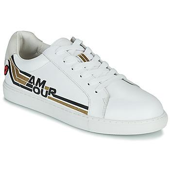 Pantofi Femei Pantofi sport Casual Bons baisers de Paname SIMONE AMOUR RETRO Alb / Auriu