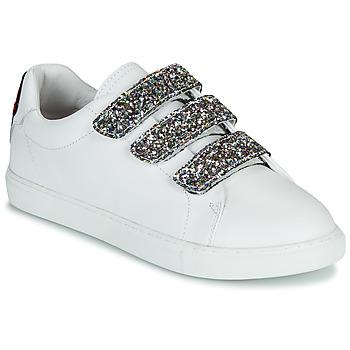 Pantofi Femei Pantofi sport Casual Bons baisers de Paname EDITH GLITTER TONGUE Alb
