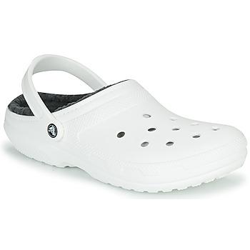 Pantofi Saboti Crocs CLASSIC LINED CLOG Alb