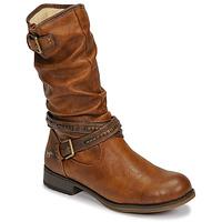 Pantofi Femei Cizme casual Mustang 1139624 Coniac