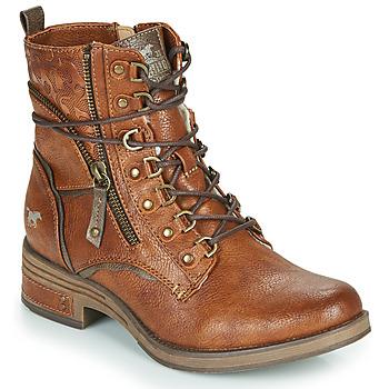 Pantofi Femei Ghete Mustang 1293601 Coniac