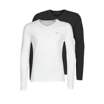 Îmbracaminte Bărbați Tricouri cu mânecă lungă  Kaporal VIFT  negru-alb