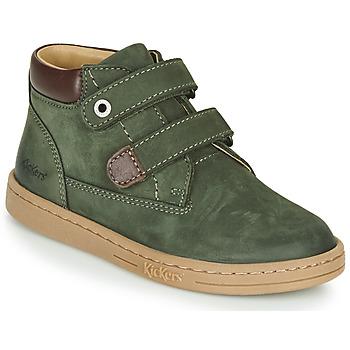 Pantofi Băieți Ghete Kickers TACKEASY Kaki