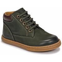 Pantofi Băieți Ghete Kickers TACKLAND Kaki