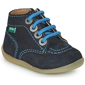 Pantofi Băieți Ghete Kickers BONZIP-2 Bleumarin