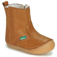 Pantofi Fete Ghete Kickers SOCOOL CHO Camel
