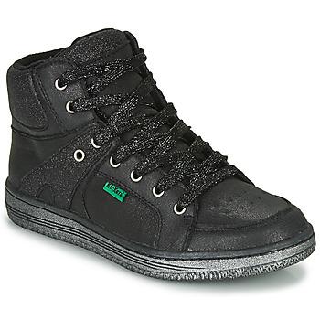 Pantofi Fete Pantofi sport stil gheata Kickers LOWELL Negru