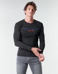 Îmbracaminte Bărbați Tricouri cu mânecă lungă  Teddy Smith TICLASS BASIC M Negru