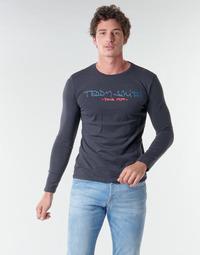 Îmbracaminte Bărbați Tricouri cu mânecă lungă  Teddy Smith TICLASS BASIC M Albastru