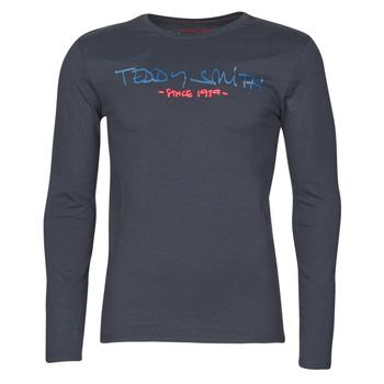 Îmbracaminte Bărbați Tricouri cu mânecă lungă  Teddy Smith TICLASS BASIC M Bleumarin