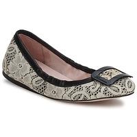Pantofi Femei Balerin și Balerini cu curea Fornarina LYZA Black / Fabric / Wo's / Shoe