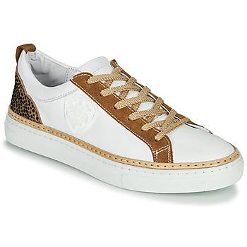 Pantofi Femei Pantofi sport Casual Philippe Morvan CORK V1 NAPPA BLANC Alb / Camel