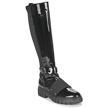 Pantofi Femei Ghete Philippe Morvan DARMY V1 VERNIS NOIR Negru