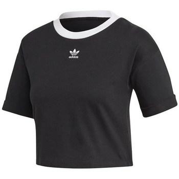 Îmbracaminte Femei Tricouri mânecă scurtă adidas Originals M10 Crop Top Negre