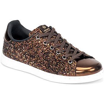 Pantofi Femei Pantofi sport Casual Victoria TENIS GLITTER Bronz