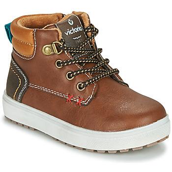Pantofi Băieți Pantofi sport Casual Victoria PUZZLE  PIEL Maro