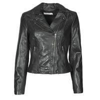 Îmbracaminte Femei Jachete din piele și material sintetic Naf Naf CAMILLA Negru