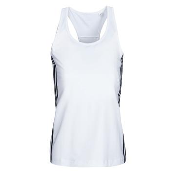 Îmbracaminte Femei Maiouri și Tricouri fără mânecă adidas Performance W D2M 3S TANK Alb