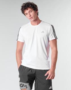 Îmbracaminte Bărbați Tricouri mânecă scurtă adidas Performance RUN IT TEE 3S M Alb